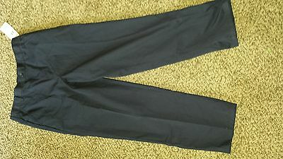 """Boys NEW Husky 14 Navy Blue French toast """"Pull-on"""" flat front pants"""