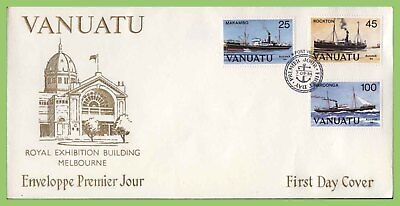 Vanuatu 1984 Ausipex Ships set on First Day Cover