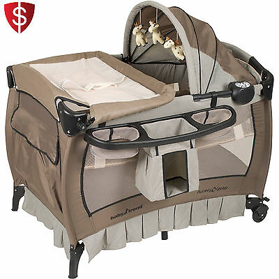 Nursery Center Playard Bay Trend Play Protable Playpen Infant Cruv Bed Bassinet