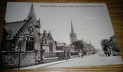 Bedford Place, Burgh School & Parish Church Postcard c1910