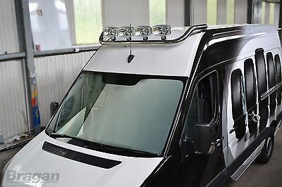 To Fit 2010+ Renault Master Steel Medium High Roof Light Bar + Jumbo Spots