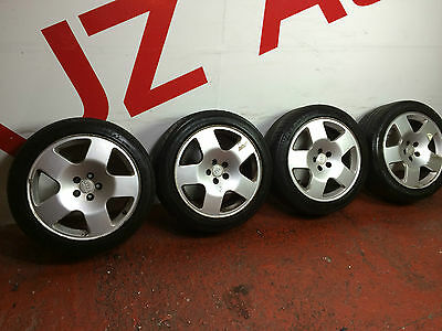 "GENUINE Audi TT comps 17""alloy wheels x4  with Tyres Leon VW Golf A3 5x100"