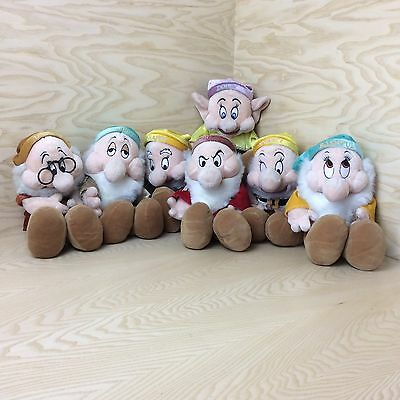 Complete Set Of Walt Disney Seven Dwarfs(Snow White) Plush Soft Toys Collectable