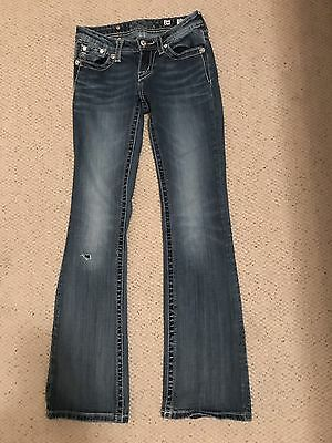 Girl's~Miss Me Boot cut Jeans Size 14~Fleur De Lis Design