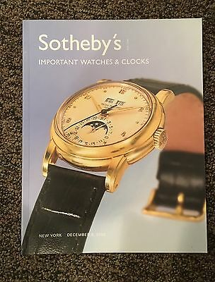 A Sotheby's Auction Catalog Featuring Important Watches And Clocks