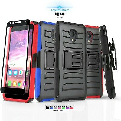 Refined Armor Cover Phone Case & Swivel Holster For [Zte Majesty Pro] +Bundle