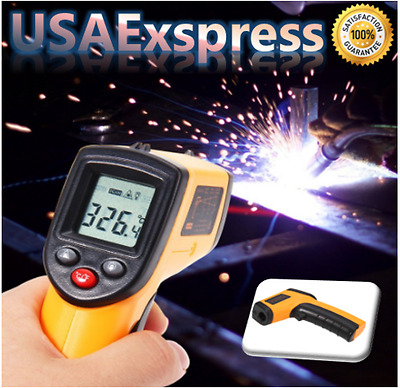 Non Contact Ir Laser Temperature Gun Digital LCD Screen Infrared Thermometer NEW