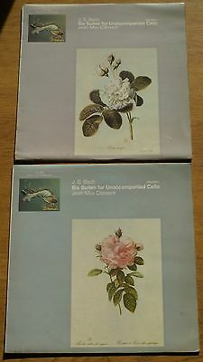 "OLS 133 / 134 ""J.S. Bach 6 Suites for Unaccompanied Cello"" Jean-Max Clement, EX!"