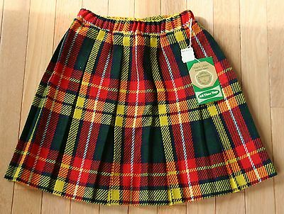 Vtg. 1960s-70s NEW NWT Girls Size 10 All Time Togs Plaid School Girl Skirt RETRO