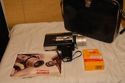 Vintage Canon Auto Zoom 518 Super 8 Movie Camera & Works! loaded with film +one
