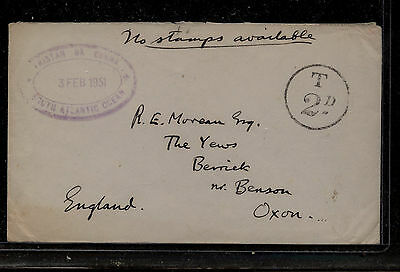 Tristan da Cunha  no stamps available  nice markings   1951     KL0228