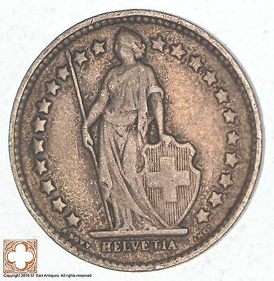 SILVER - 1914 Switzerland 1/2 Franc - World Silver Coin *589