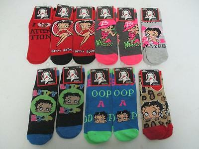 Lot of 11 Brand New Betty Boop Socks Women's Size 9-11