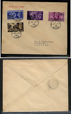 Morocco  64-67  Olympic first  day cancel cover to Tangier 1948         EX0410