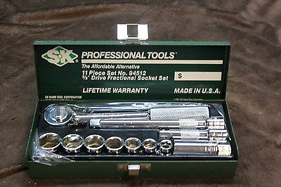 SK Hand Tools 94512 11pc Socket Set Metric 3/8'' Drive