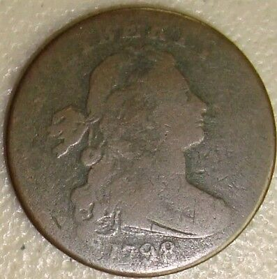 1798 Draped Bust Cent. 2nd Hairstyle. Nice Coin
