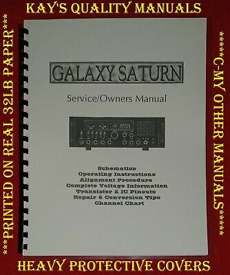 Galaxy Saturn Base Station SERVICE/OWNER'S MANUAL ~ w/Protective Covers!