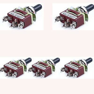 5-Pack Heavy Duty 20A 125V SPDT 3 Term ON-OFF-ON Momentary Toggle Switch US Sale
