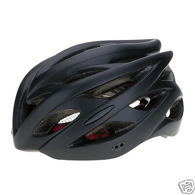 Black Bike Cycling Bicycle Safety Helmet Integral Forming With LED Back light