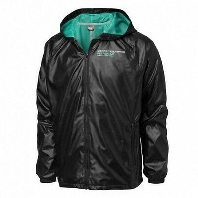 JACKET Windbreaker Hooded Formula One 1 Mercedes AMG Petronas F1 NEW Blk XS AU