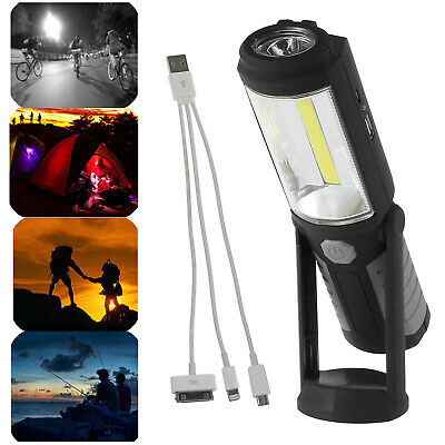 Magnetic LED COB Inspection Lamp Work Light USB Rechargeable Rotation Torch AU