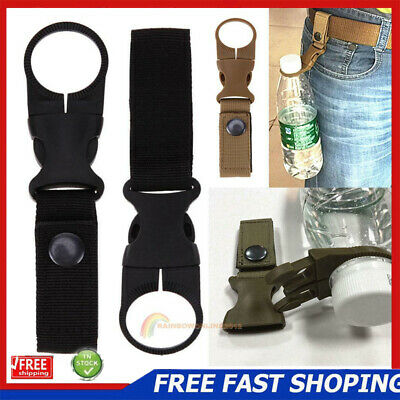 Key Hook Tactical Molle Hanging Belt Carabiner Webbing Water Bottle Buckle Clip