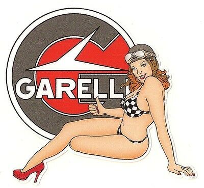 GARELLI Sticker left Pin up gauche °