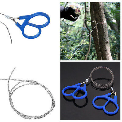 Stainless Steel Wire Camping Saw Commando Survival Emergency Rope Saw Gear Tools