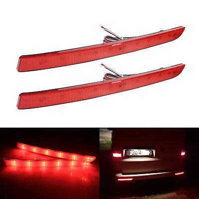 2x VW Transporter T5 Red LED Rear Bumper Reflector Tail Brake Stop Light 2012-16