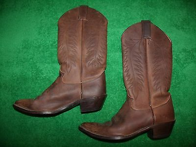 Women's Justin Bay Apache leather western boots size 8C