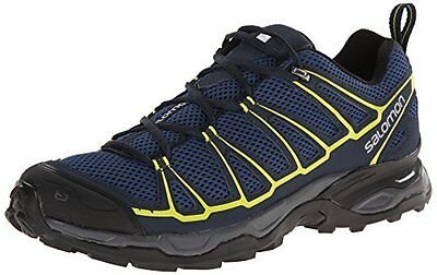 Salomon Men's X Ultra Prime Multifunctional Hiking Shoe, Fjord/Deep Blue/Gecko G