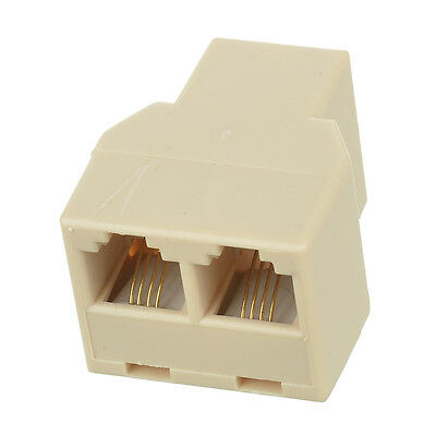 RJ11 Modem Extension Phone Cable Lead Coupler 1 to 2