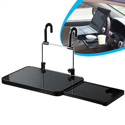 Car Driver Folding Table Headrest Tray Cup Holder Laptop iPad Desk Hands Free