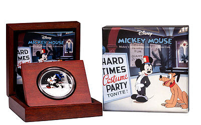 2017 Niue $2 1 oz Colorized Proof Silver Disney Mickey Delayed Date OGP SKU46754