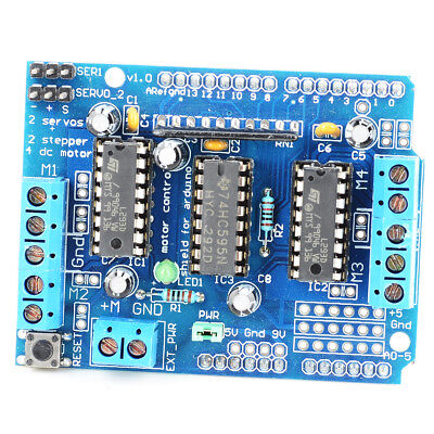 L293D KEYES Motor Control Shield Motor Drive Expansion Board for Arduino Blue