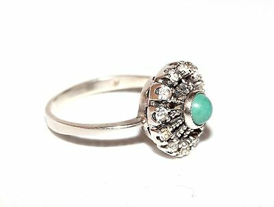 Marvelous Turquoise Vintage Ring Silver 925 USSR Soviet awesome!