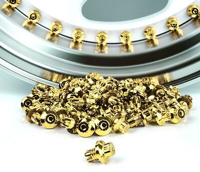 20 x 24k Gold Plastic Wheel Rivets Nuts Rim Lip Replacement Refurb Alloys Studs