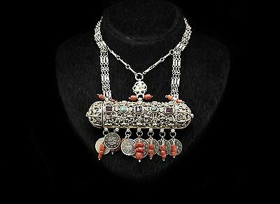 Antique Original Ottoman Filigree Silver Amazing Traditional Necklase