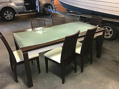 Dining Table with 6 Chairs Set