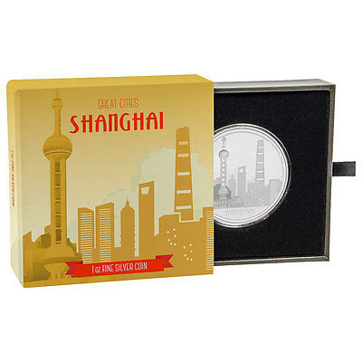 2017 Niue Great Cities - Shanghai 1 oz. Silver Proof $2 Coin W/OGP SKU47313