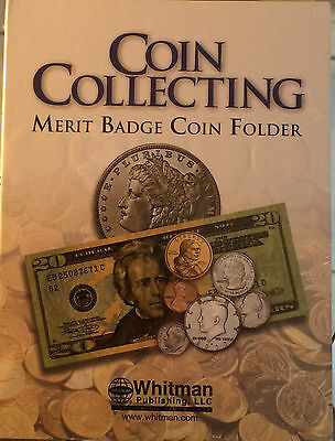 Brand New-Boy Scouts Merit Badge Coin Collecting Folder H.e. Harris & Co Album