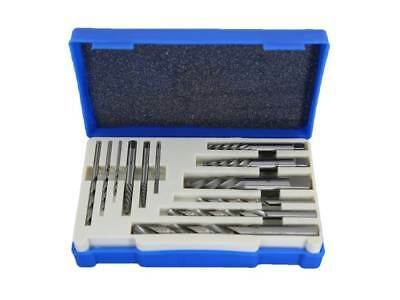 TEMO 12 pc SCREW EXTRACTOR Damaged Broken Bolt Removal SET Kit DRILL EASY OUT