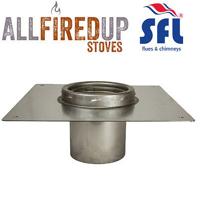SFL Sflue Stainless Twin Wall Flue Pipe Twist Lock - Console Plate With Adapter