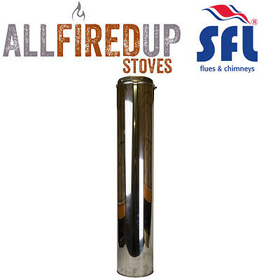 SFL Sflue Stainless Twin Wall Insulated Flue Pipe Twist Lock - 1000mm Length