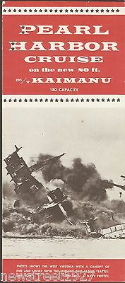 Vintage Advertising Card For A Pearl Harbor Cruise On The MV Kaimanu