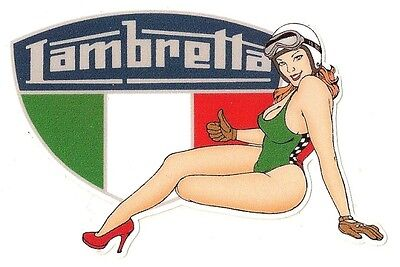 LAMBRETTA left Pin Up gauche Sticker