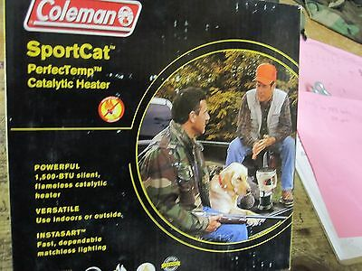 Coleman SportCat Perfect Temp 5035 Catalytic camping propane Heater - Brand New