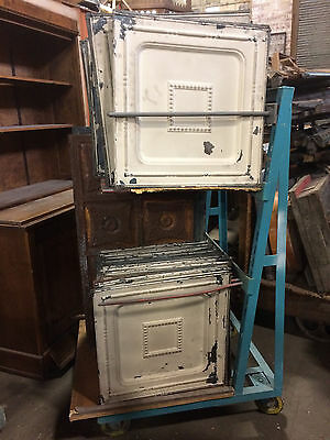 "280 SF of 24"" x 24"" Antique Tin Ceiling Tile Metal Vintage Set of 70"