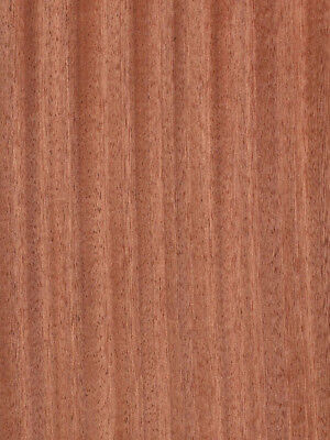 "Ribbon Sapele (Mahogany) Veneer Quartered Cut Wood on Wood 4' X 8' (48"" x 96"")"