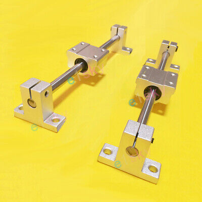 8mm Chromed Smooth Rod Linear Rail Shaft Support Bearing Block F 3D Printer CNC